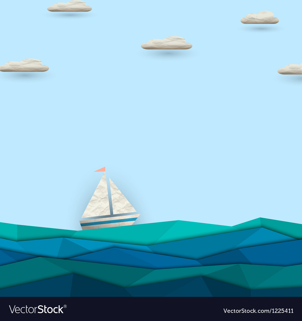 Sailing boat vector | Price: 1 Credit (USD $1)