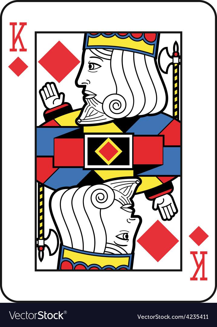Stylized king of diamonds vector | Price: 1 Credit (USD $1)