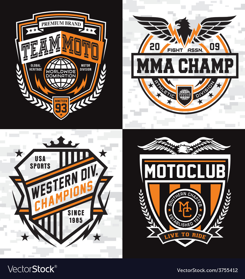 Athletic emblem graphics vector | Price: 1 Credit (USD $1)
