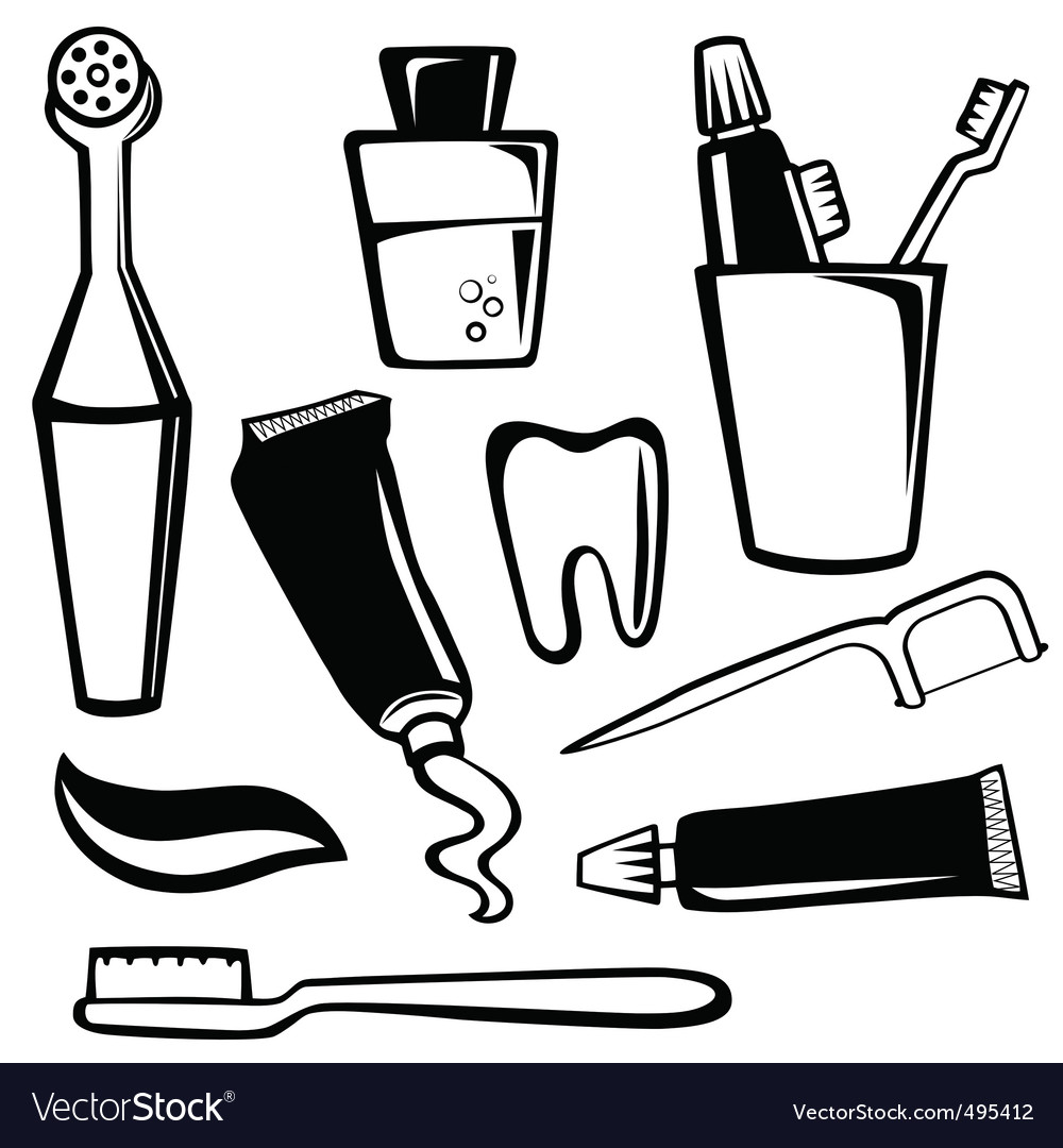 Body care objects vector | Price: 1 Credit (USD $1)