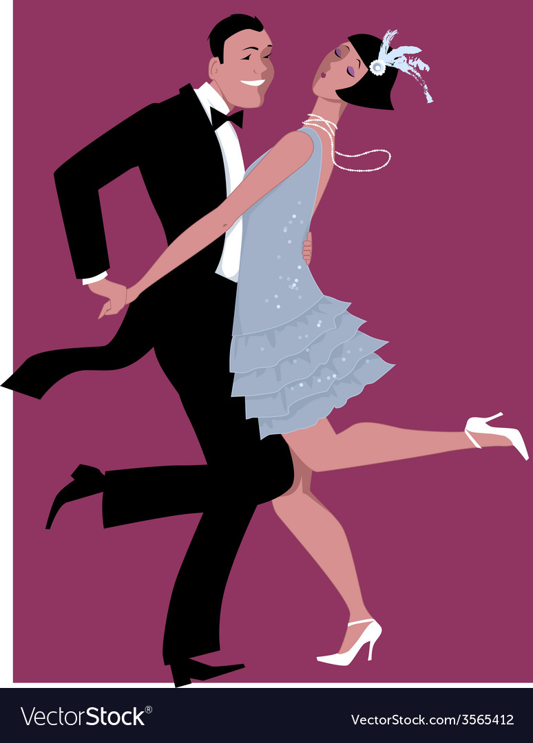 Charleston dancing vector | Price: 1 Credit (USD $1)