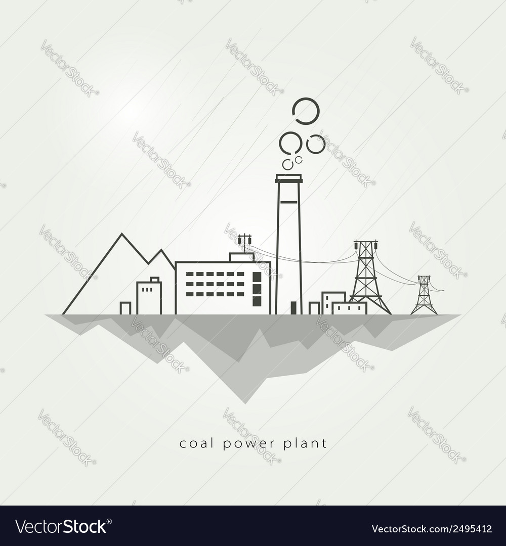 Coal power stations vector | Price: 1 Credit (USD $1)
