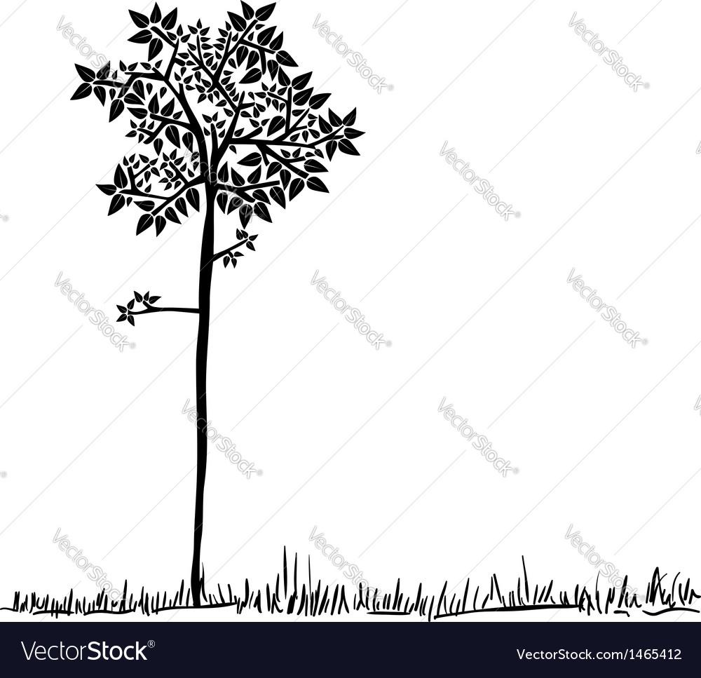 Cute tree silhouette vector | Price: 1 Credit (USD $1)