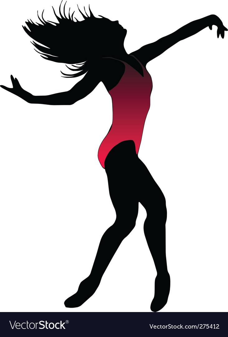 Dance girl ballet silhouettes vector | Price: 1 Credit (USD $1)