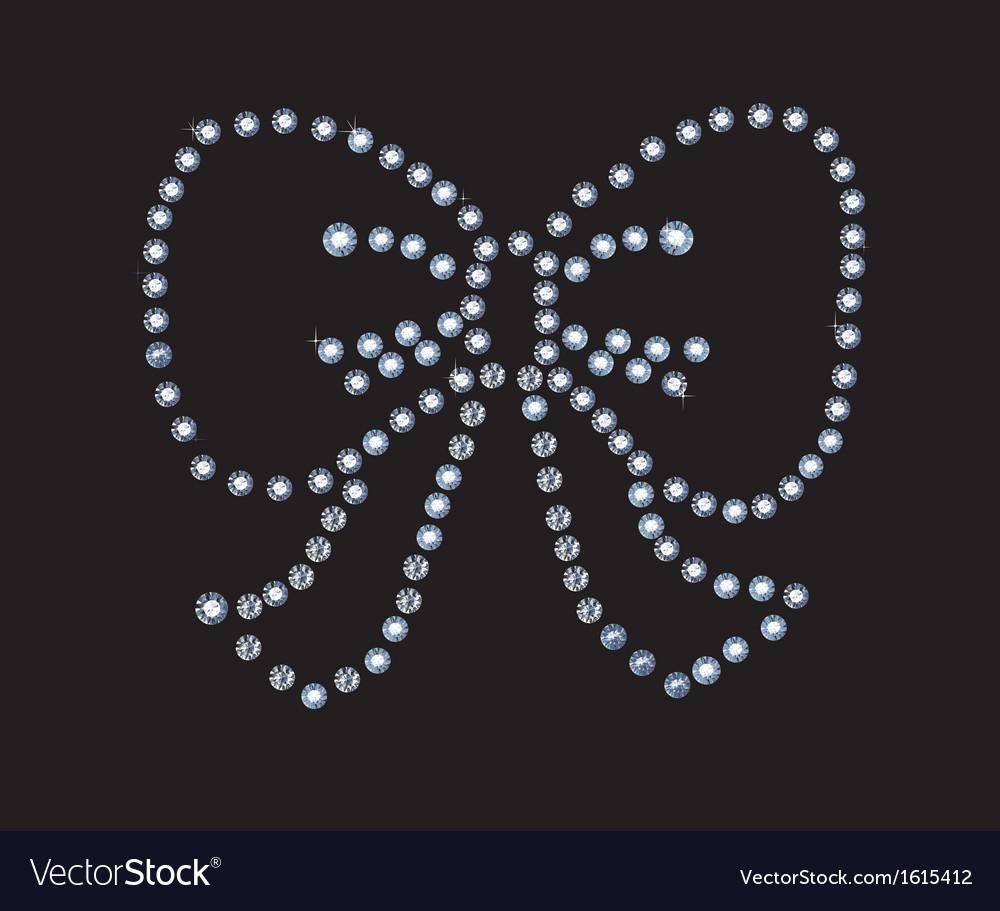 Diamond bow vector | Price: 1 Credit (USD $1)