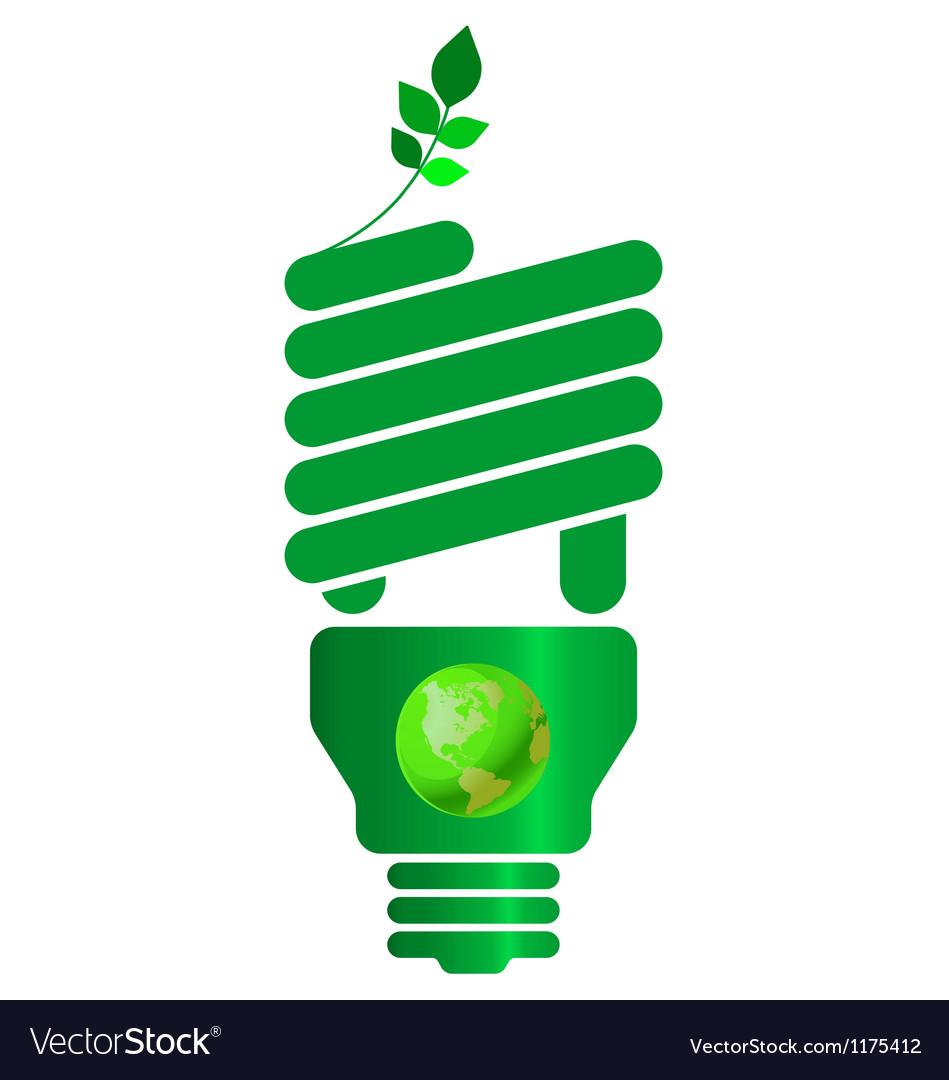Eco light bulb vector | Price: 1 Credit (USD $1)