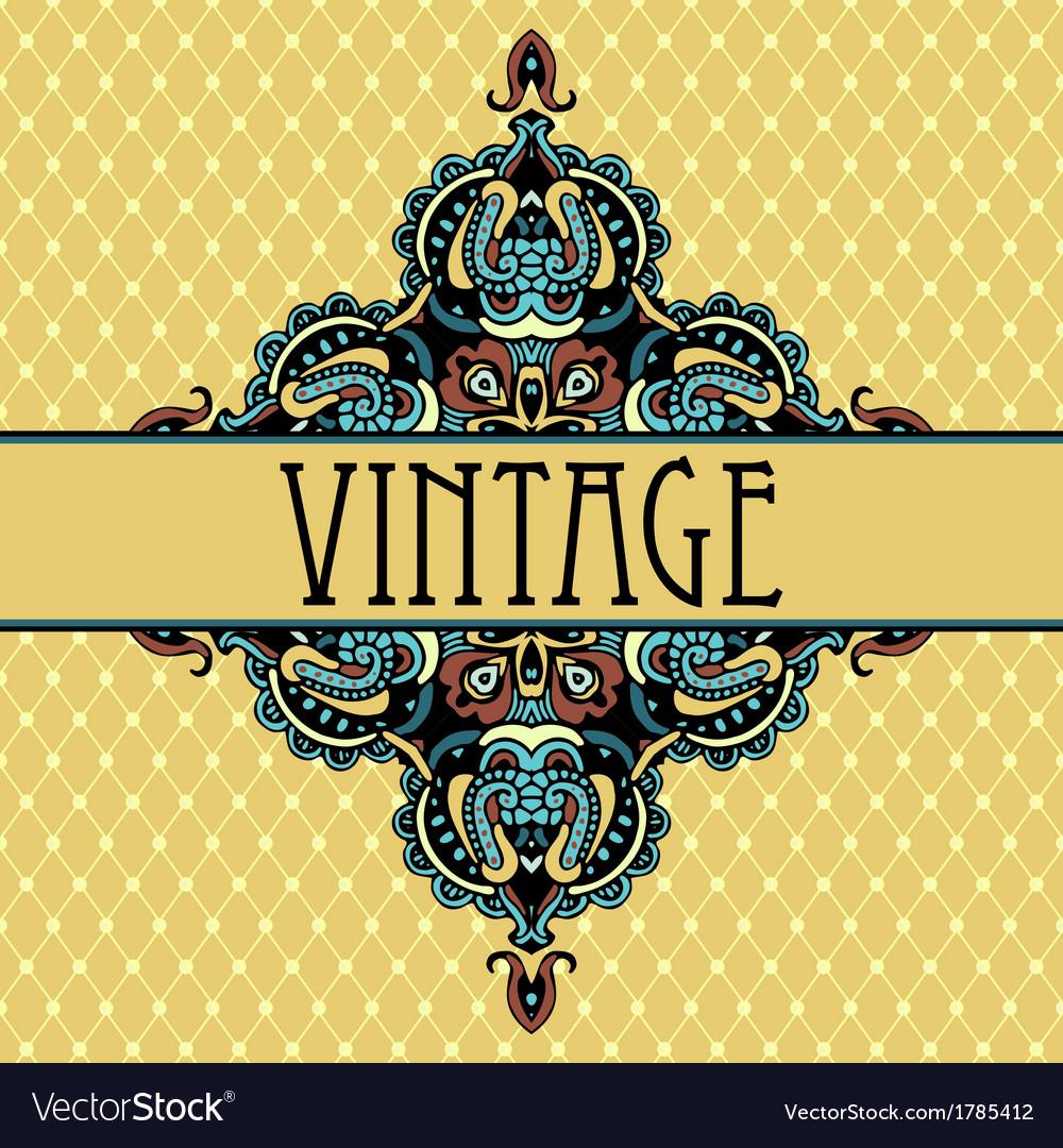 Elegance luxuuy vintage vignette design vector | Price: 1 Credit (USD $1)