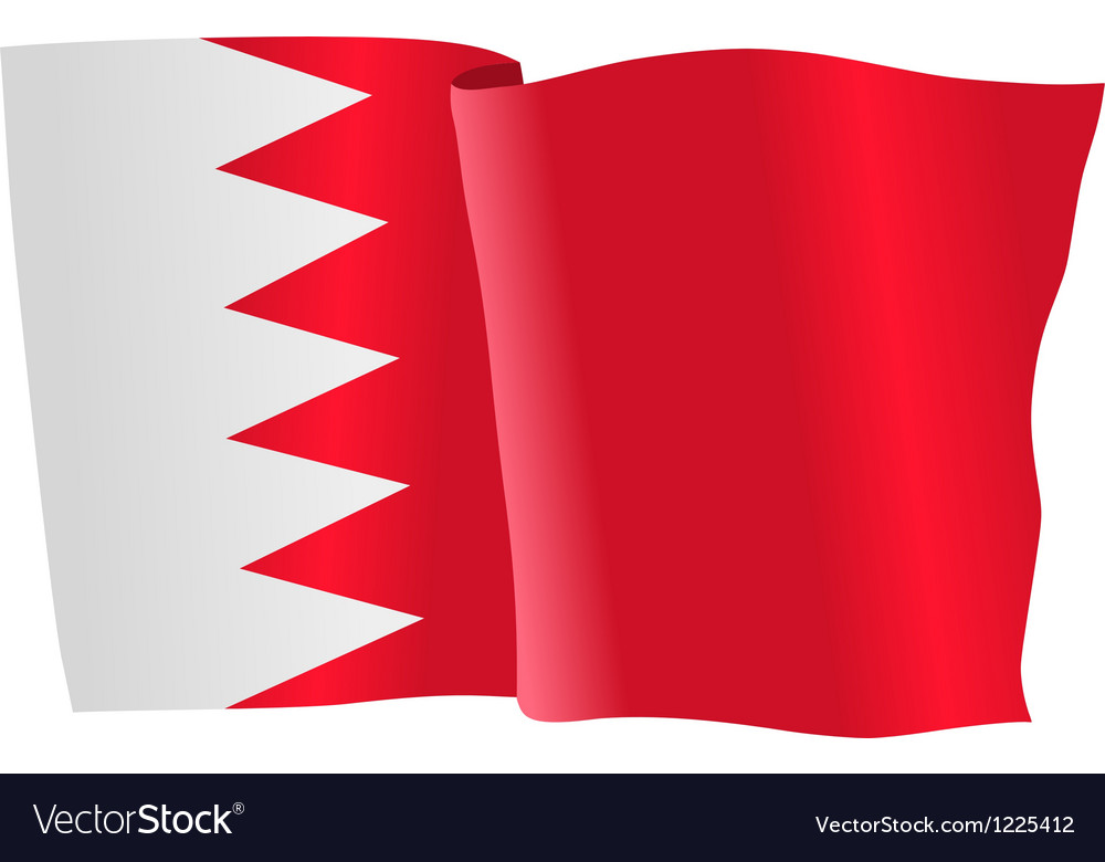 Flag of bahrain vector | Price: 1 Credit (USD $1)
