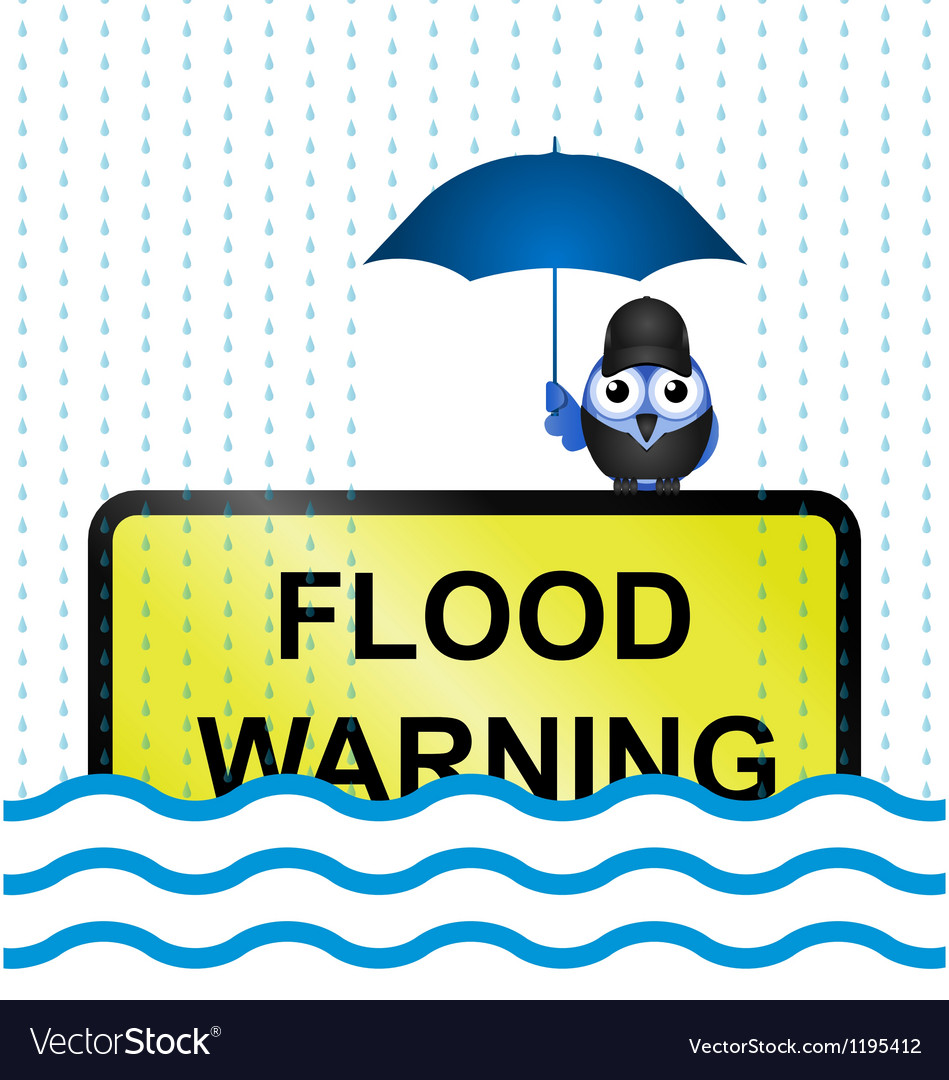Flood warning vector | Price: 1 Credit (USD $1)