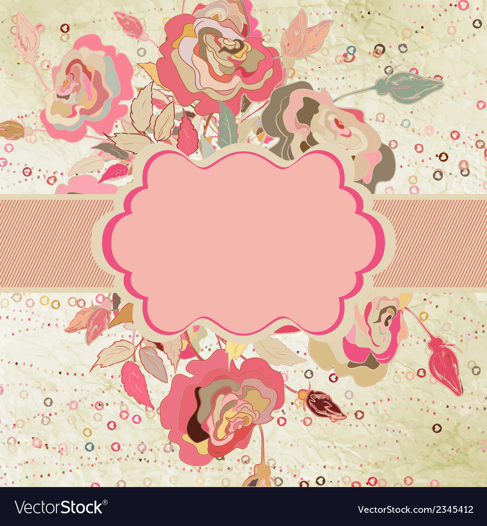 Floral card templste for valentine s day eps 8 vector | Price: 1 Credit (USD $1)