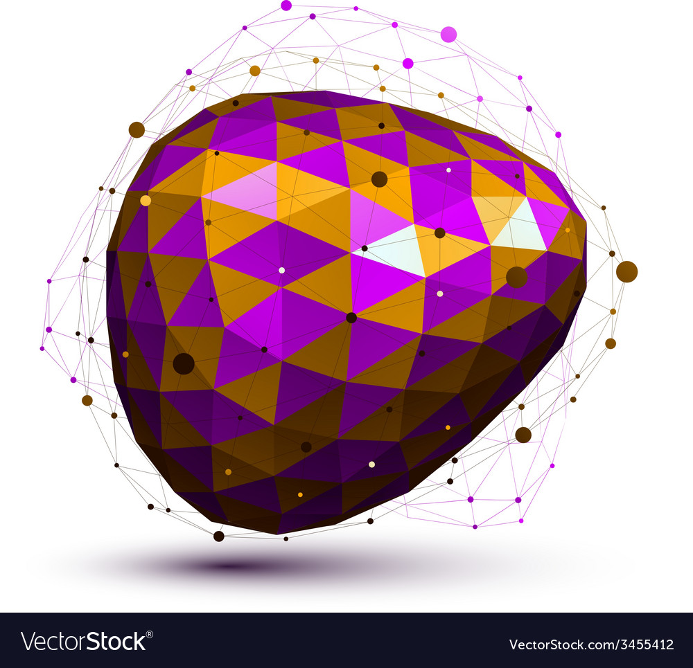 Purple distorted 3d abstract object with lines and vector | Price: 1 Credit (USD $1)