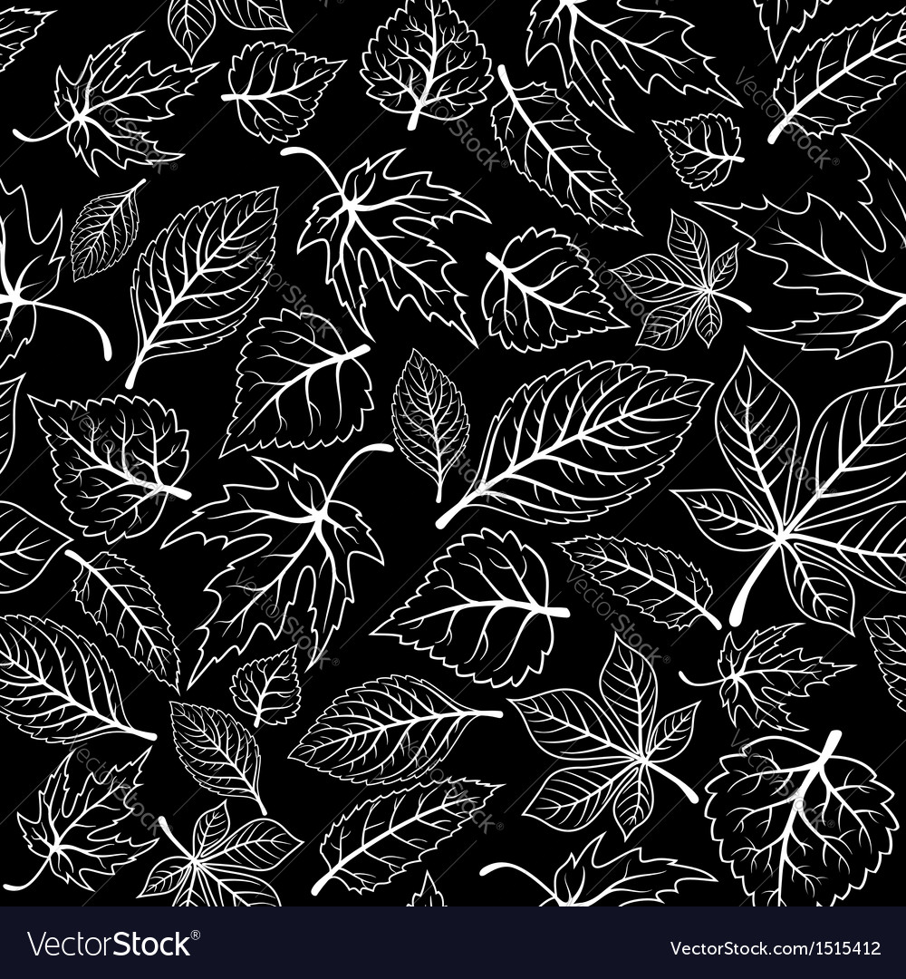Seamless pattern with tree leaves vector | Price: 1 Credit (USD $1)