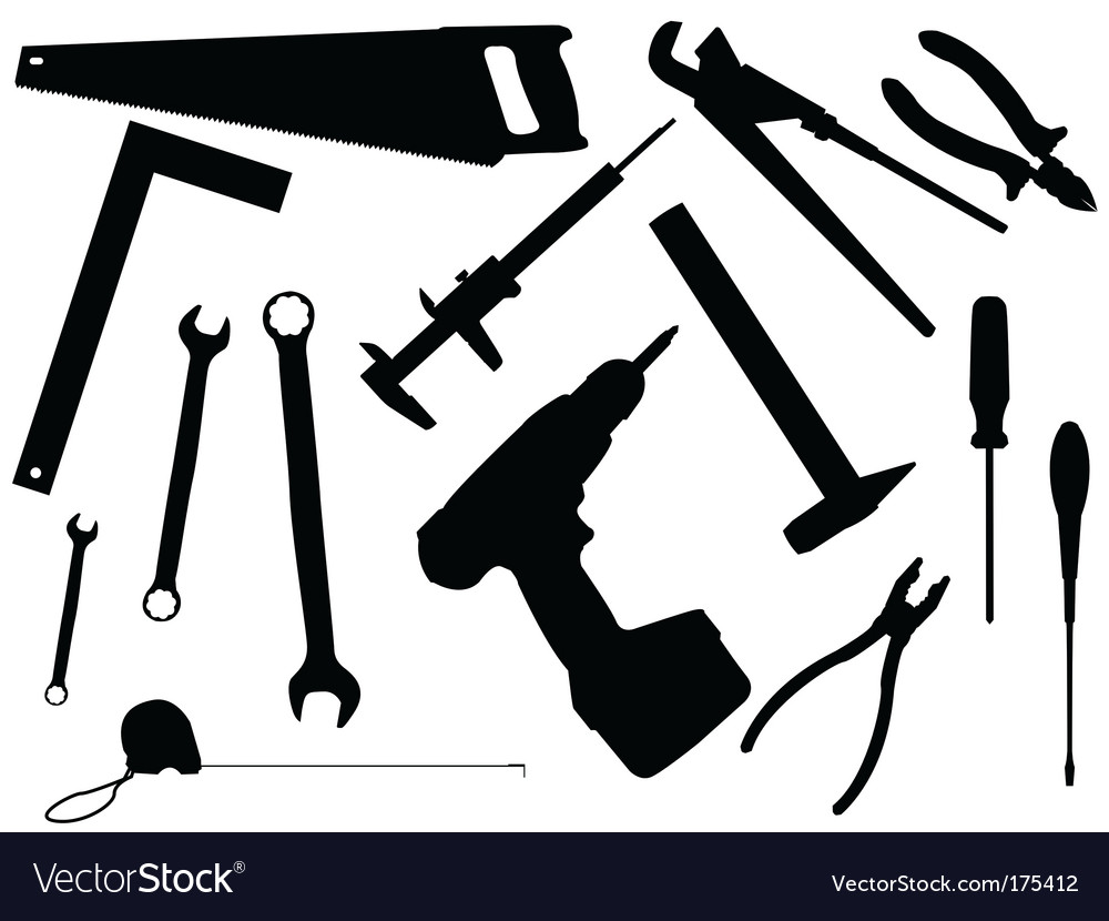 Set of working tools vector | Price: 1 Credit (USD $1)