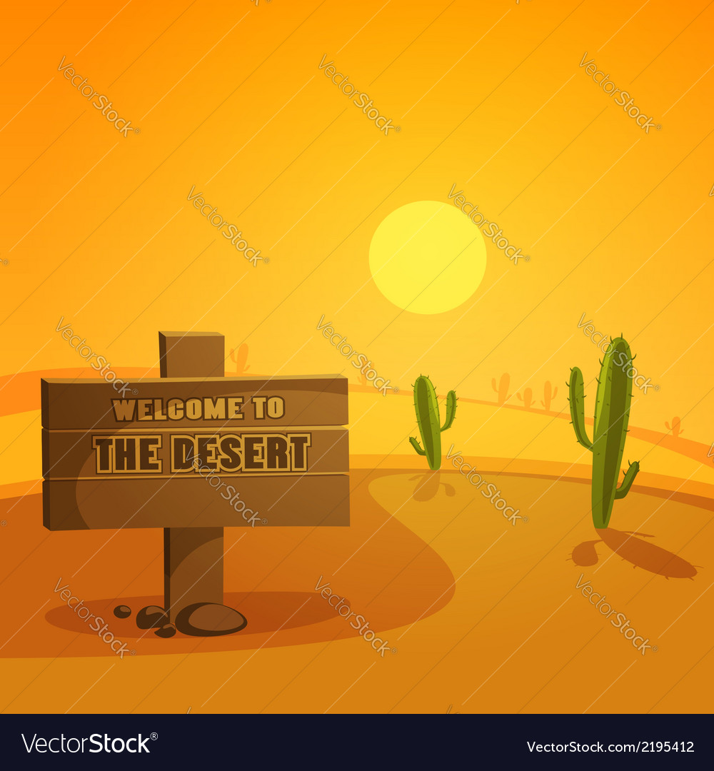 Welcome to the desert vector | Price: 3 Credit (USD $3)