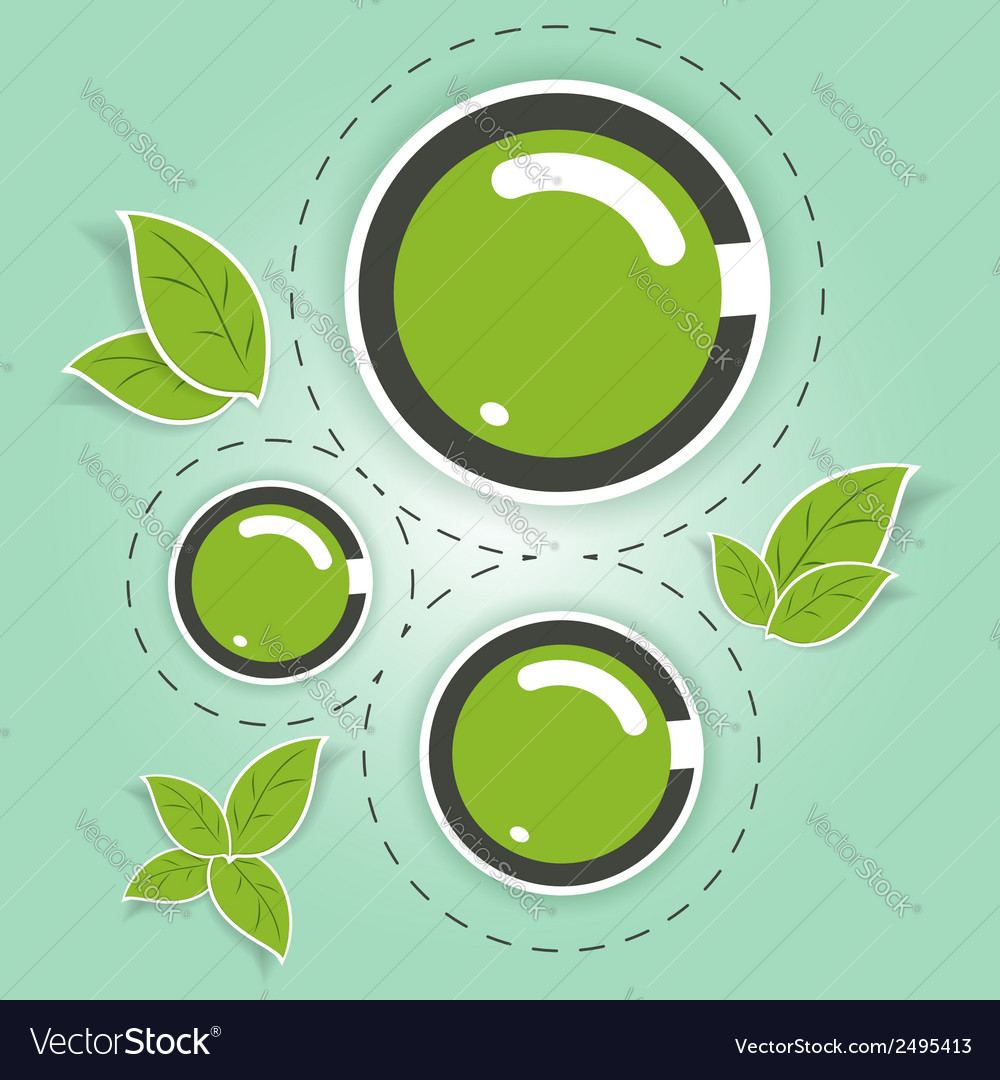 Eco-friendly green circles vector | Price: 1 Credit (USD $1)
