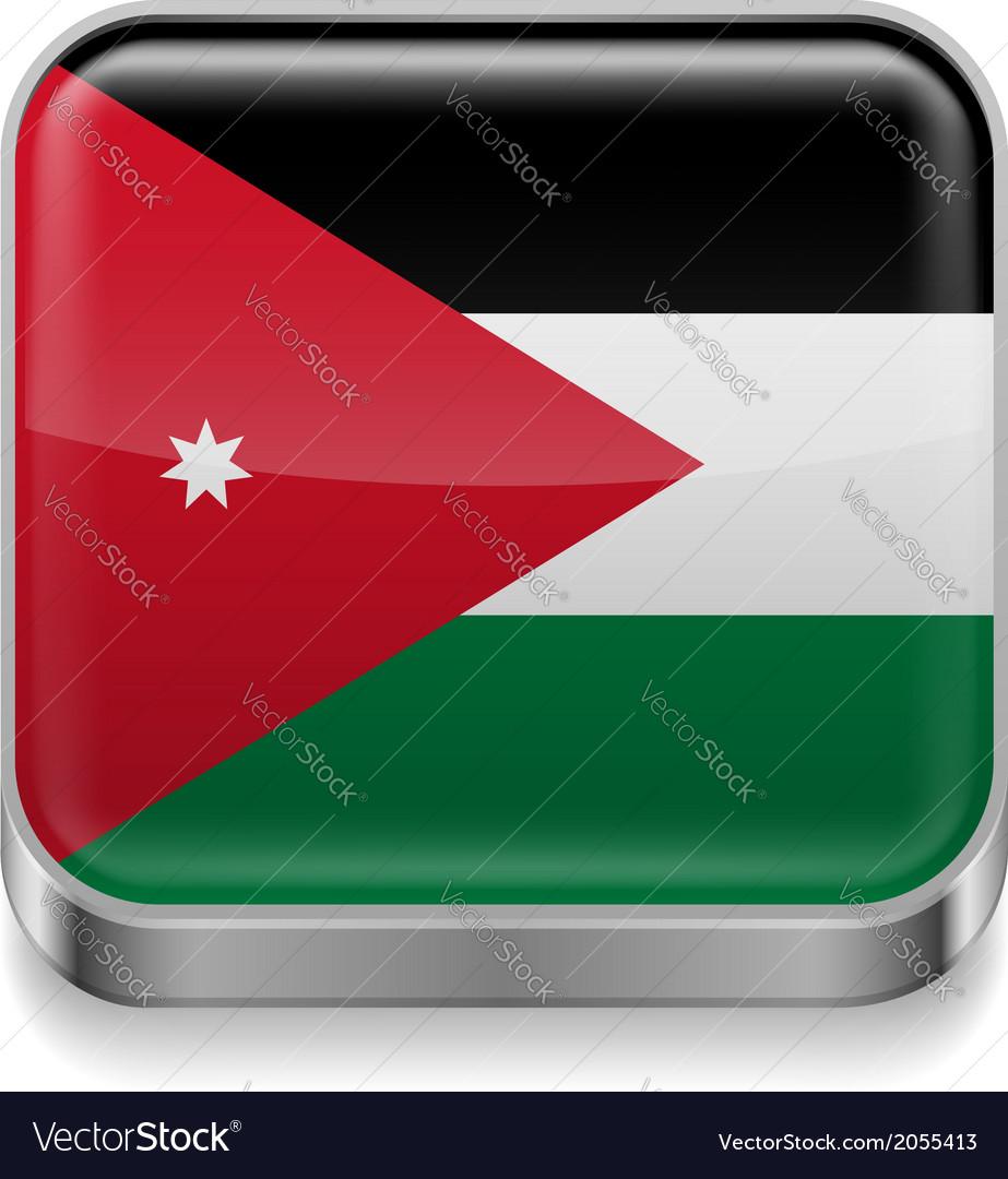 Metal icon of jordan vector | Price: 1 Credit (USD $1)