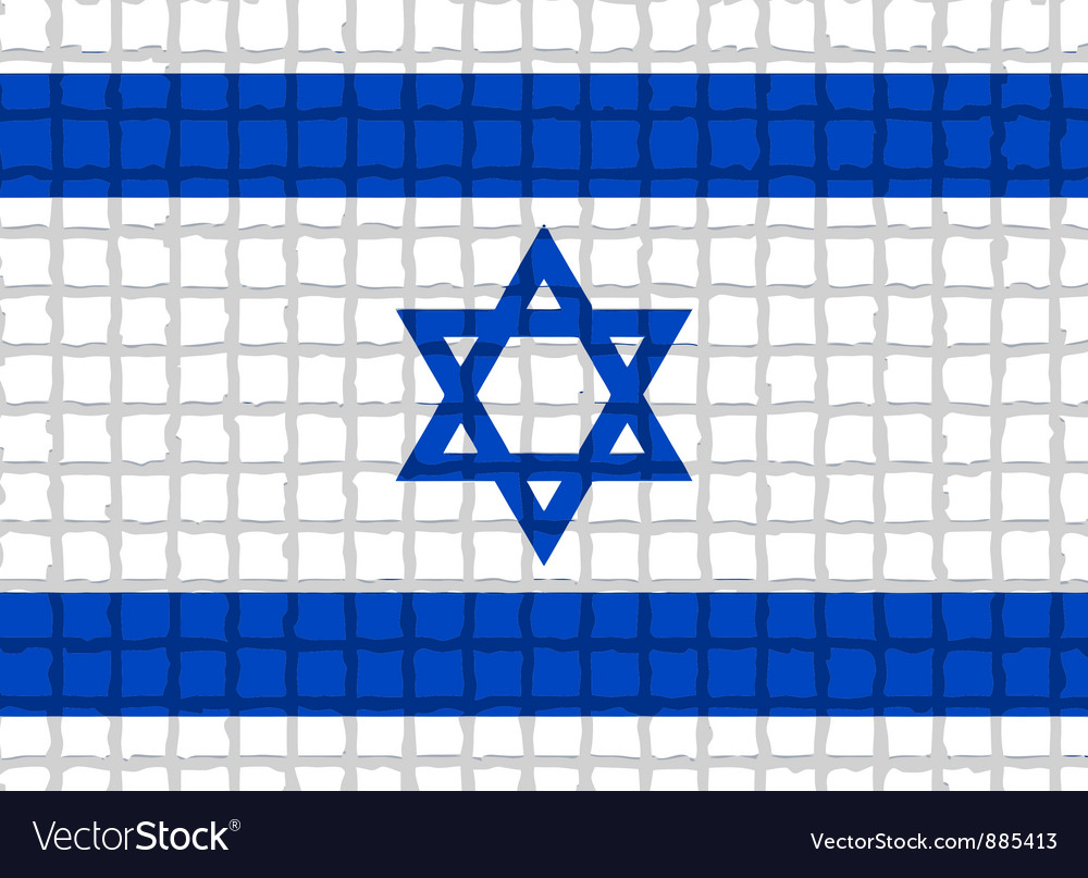 The mosaic flag of israel vector | Price: 1 Credit (USD $1)