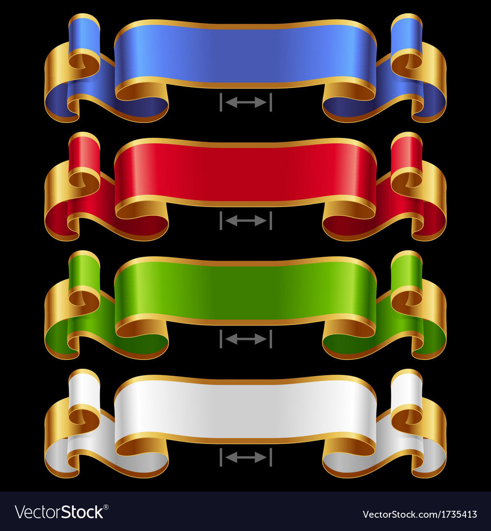 Ribbons set 13 vector | Price: 1 Credit (USD $1)