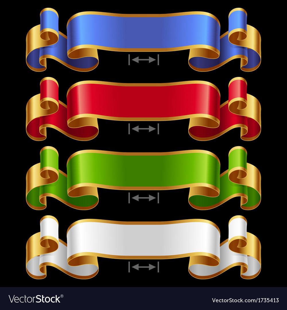 Ribbons set 13 vector | Price: 1 Credit (USD $1)
