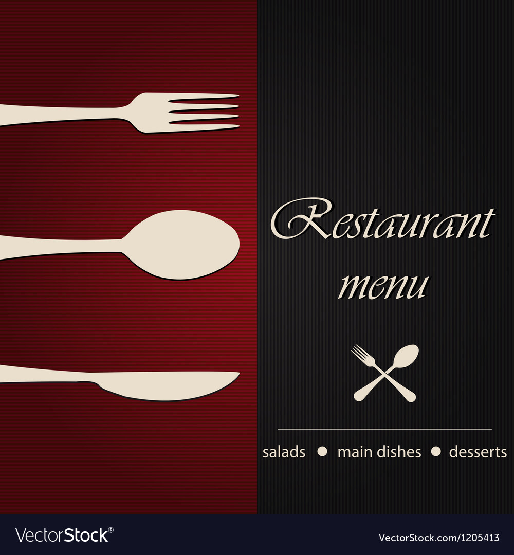 Template of a restaurant menu vector   Price: 1 Credit (USD $1)