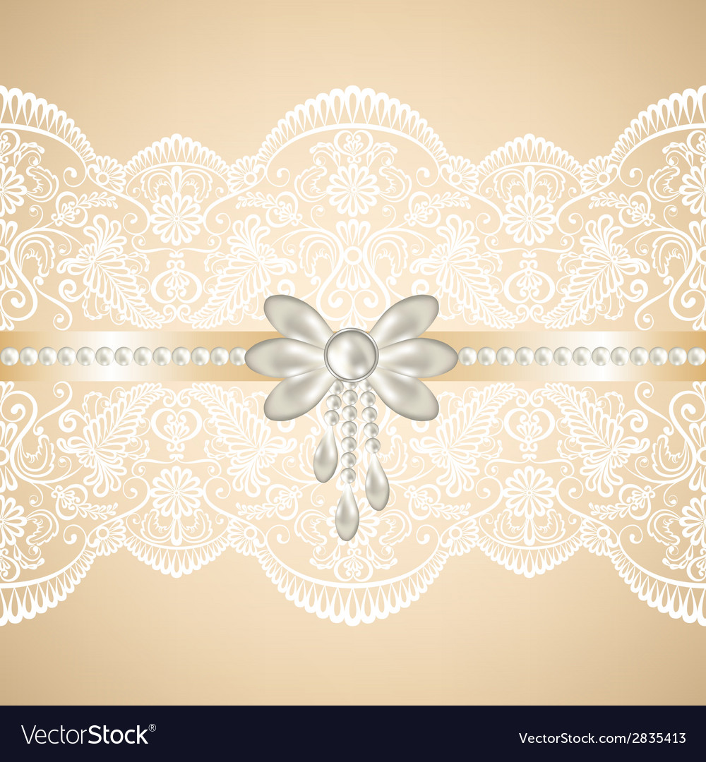 White lace on beige background vector | Price: 1 Credit (USD $1)