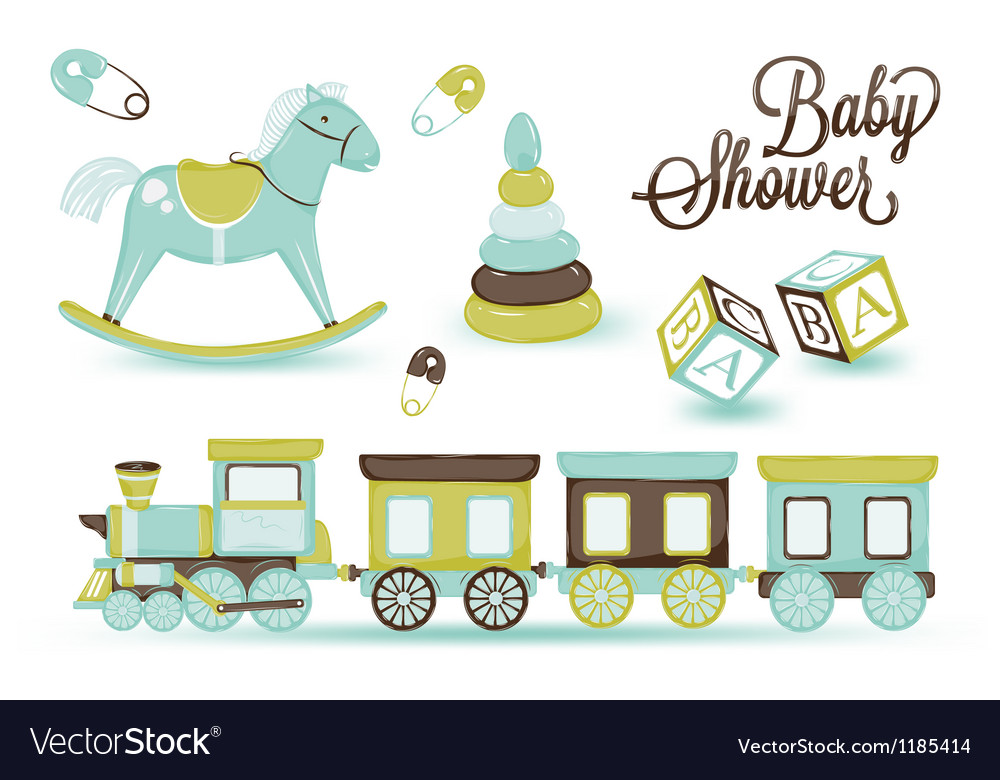 Childrens toys vector | Price: 1 Credit (USD $1)