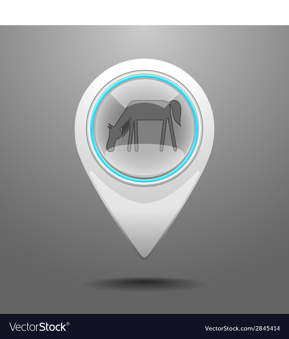 Glossy horse icon vector | Price: 1 Credit (USD $1)