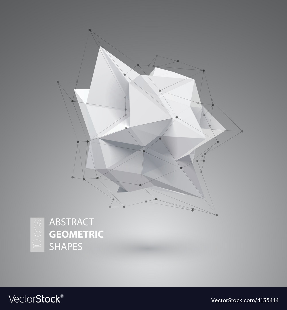 Low polygon geometry shape vector | Price: 1 Credit (USD $1)