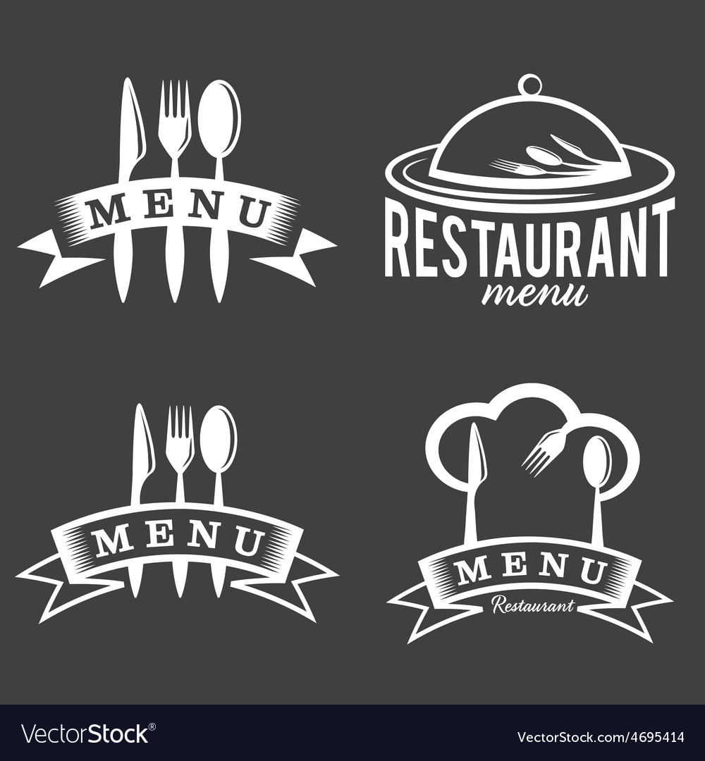 Restaurant and menu elements set vector | Price: 1 Credit (USD $1)