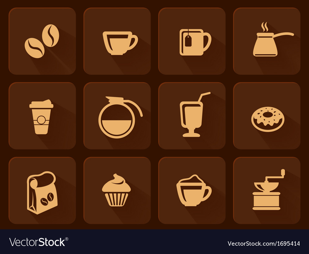Set of coffee icon vector | Price: 1 Credit (USD $1)