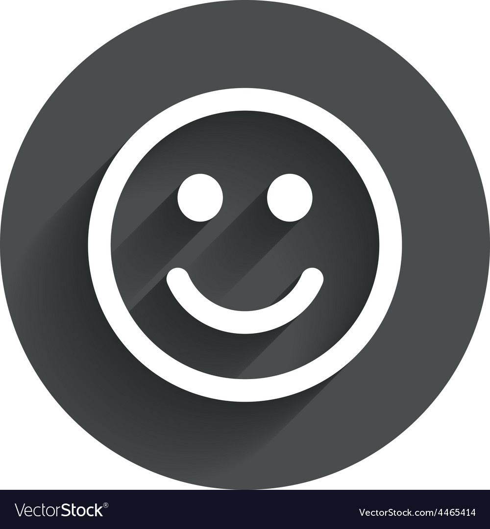 Smile icon happy face symbol vector | Price: 1 Credit (USD $1)