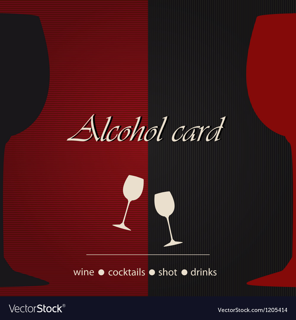 Template of an alcohol menu vector | Price: 1 Credit (USD $1)