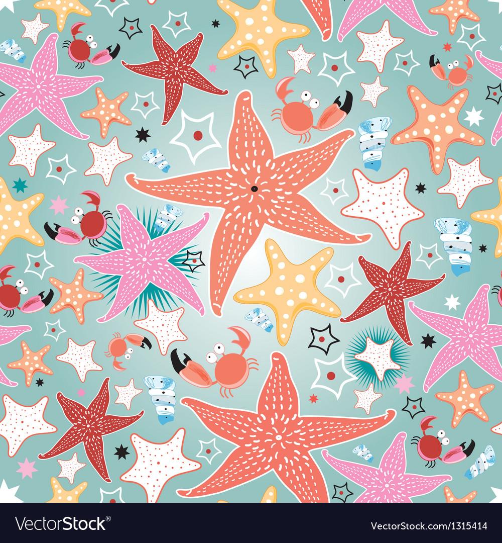 Texture of bright sea stars vector | Price: 1 Credit (USD $1)