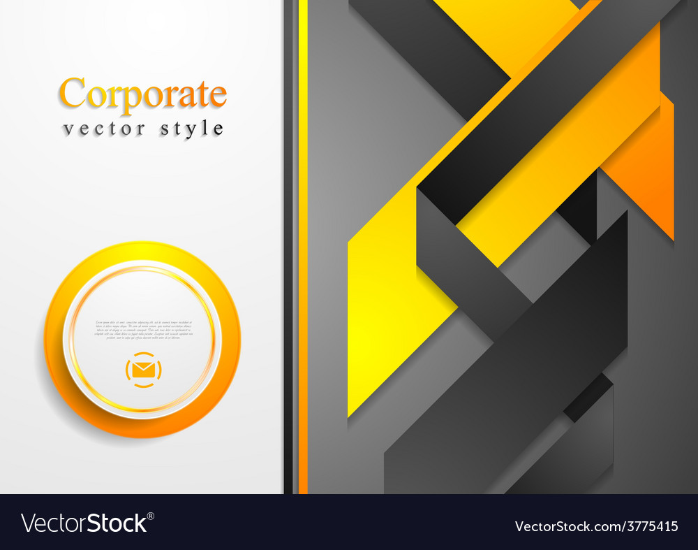 Abstract corporate tech flyer design vector | Price: 1 Credit (USD $1)