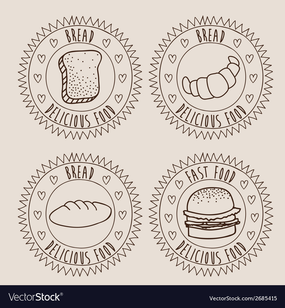 Bakery emblem designs vector | Price: 1 Credit (USD $1)