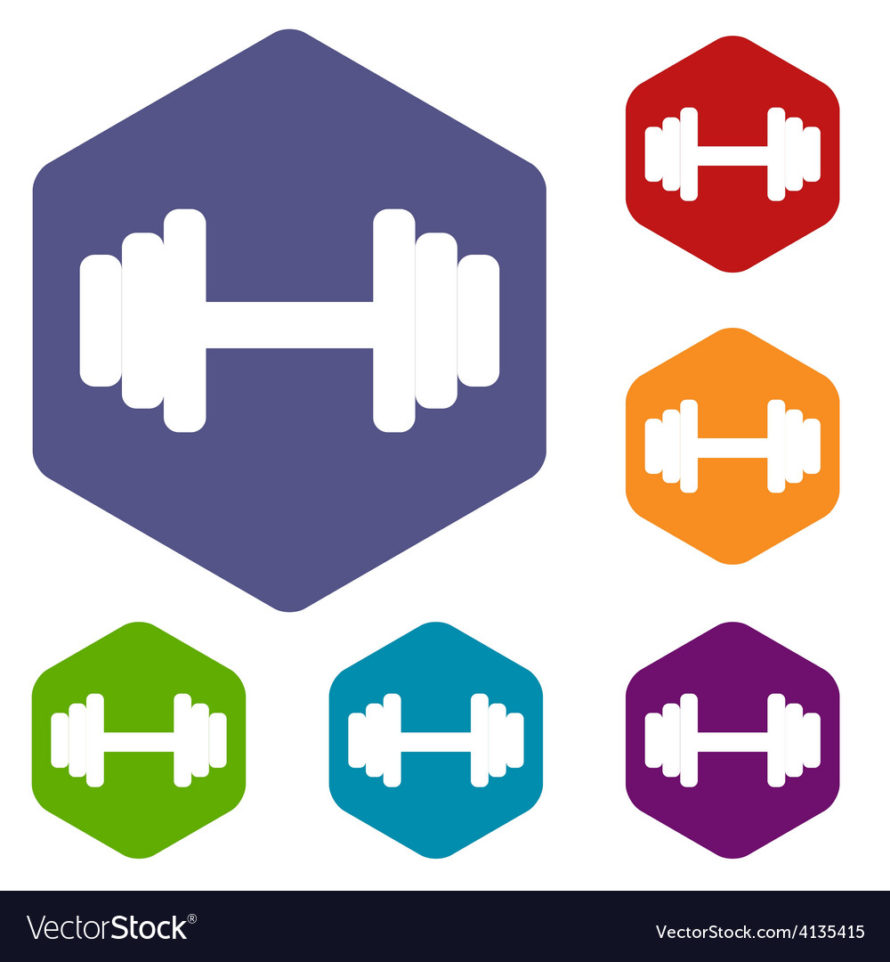 Barbell rhombus icons vector | Price: 1 Credit (USD $1)