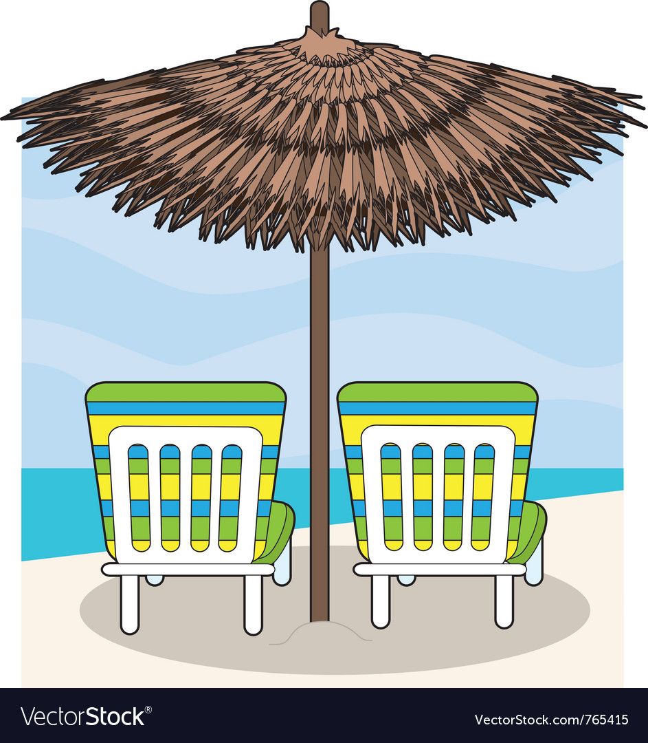 Beach chairs vector | Price: 1 Credit (USD $1)