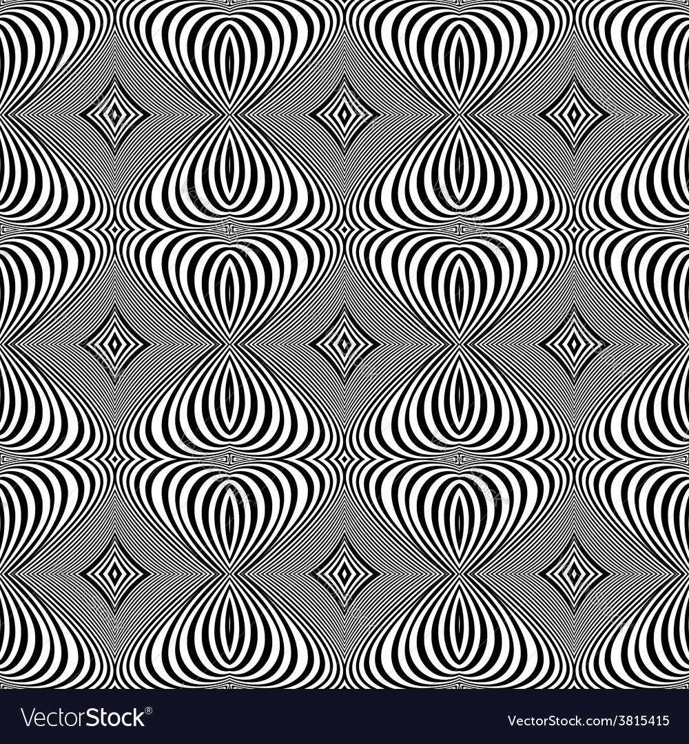 Design seamless monochrome whirl lines background vector | Price: 1 Credit (USD $1)