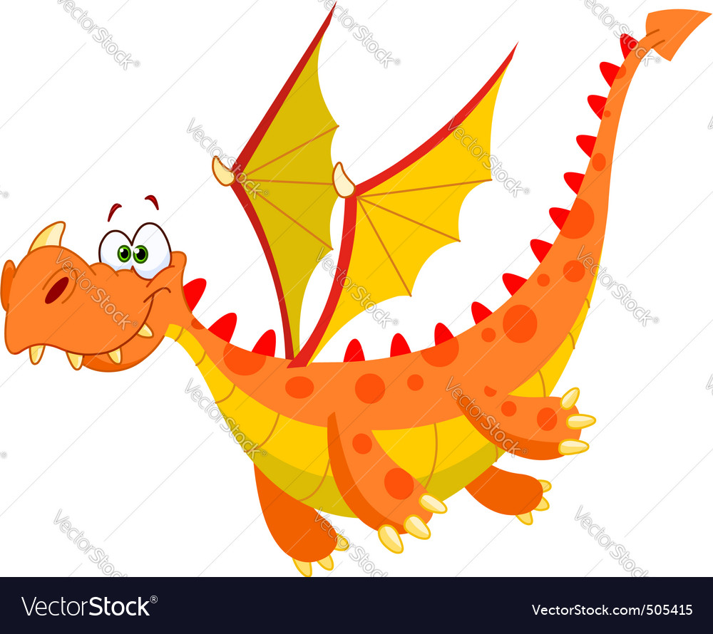 Flying dragon vector | Price: 3 Credit (USD $3)