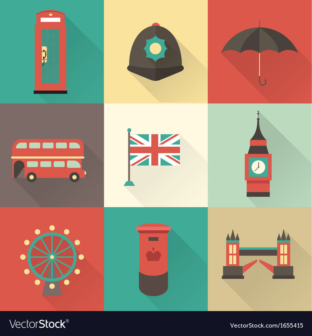 London vintage icons vector | Price: 1 Credit (USD $1)