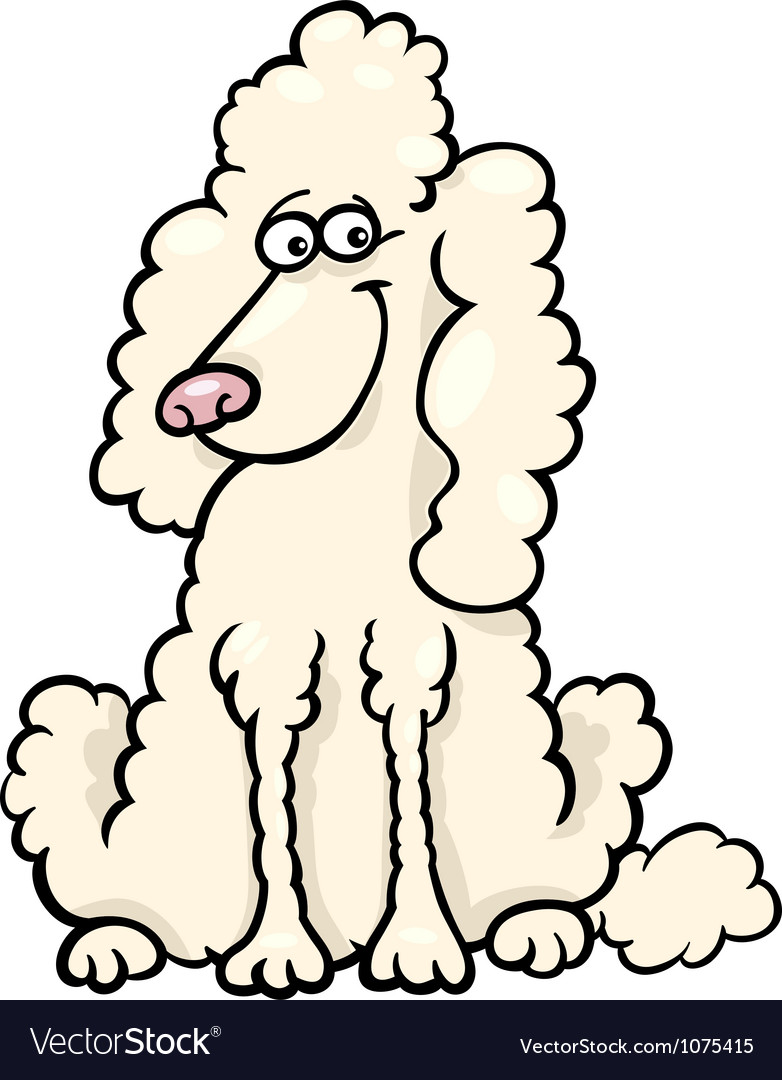 Poodle dog cartoon vector | Price: 1 Credit (USD $1)