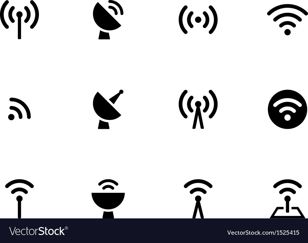 Radio tower icons on white background vector | Price: 1 Credit (USD $1)