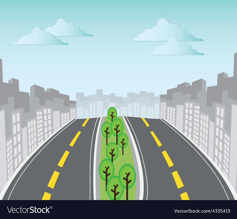 Road design vector | Price: 1 Credit (USD $1)