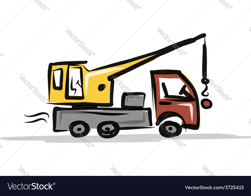 Truck crane construction equipment for your vector | Price: 1 Credit (USD $1)