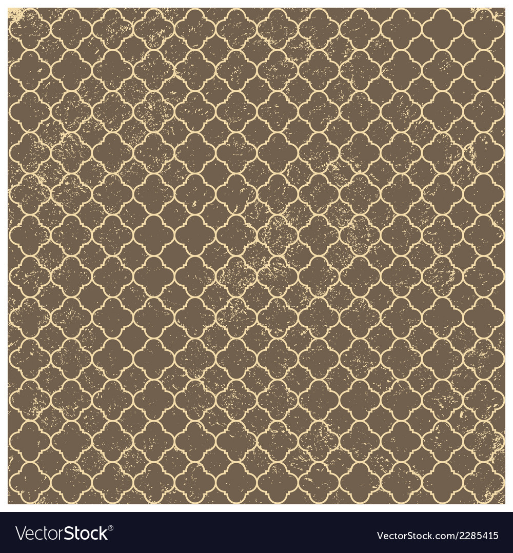 Vintage brown worn seamless pattern background vector | Price: 1 Credit (USD $1)
