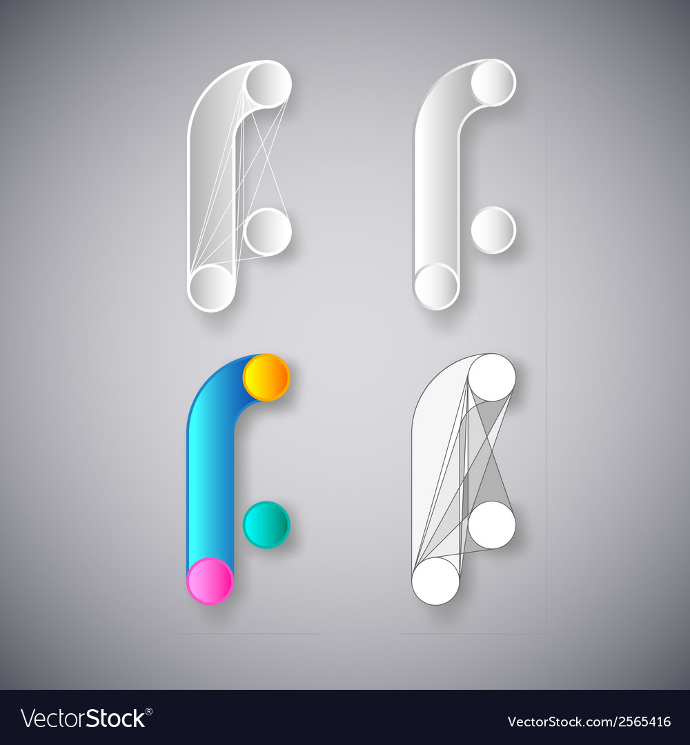 Abstract combination of letter f vector | Price: 1 Credit (USD $1)