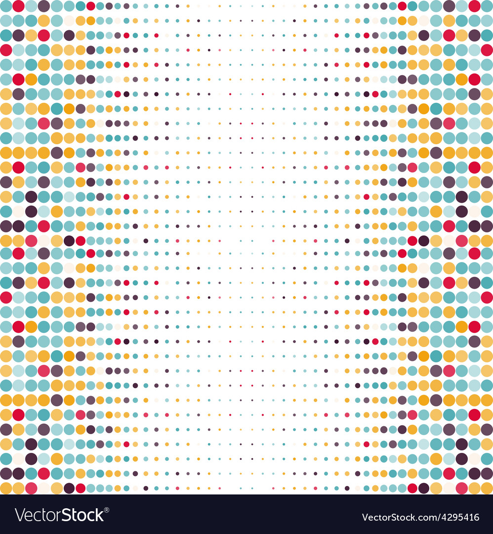 Background with the colored dotted circles in a vector | Price: 1 Credit (USD $1)