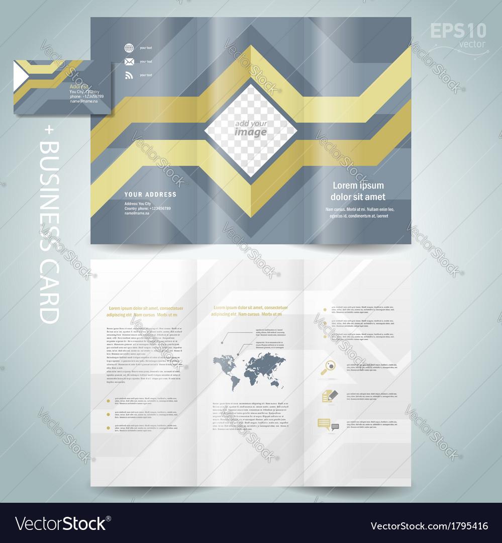 Brochure geometric abstract grach diagram vector | Price: 1 Credit (USD $1)