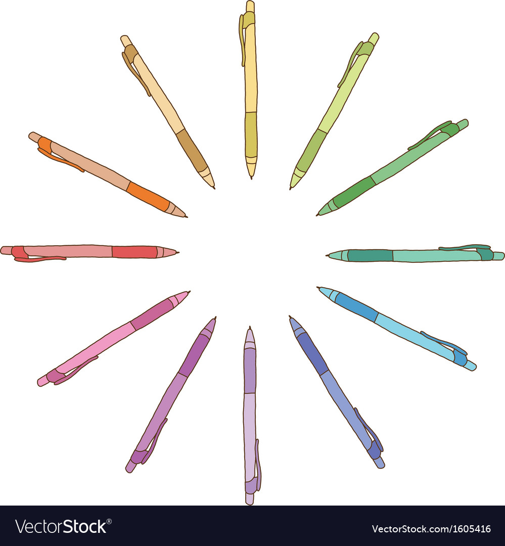Colour pen vector | Price: 1 Credit (USD $1)