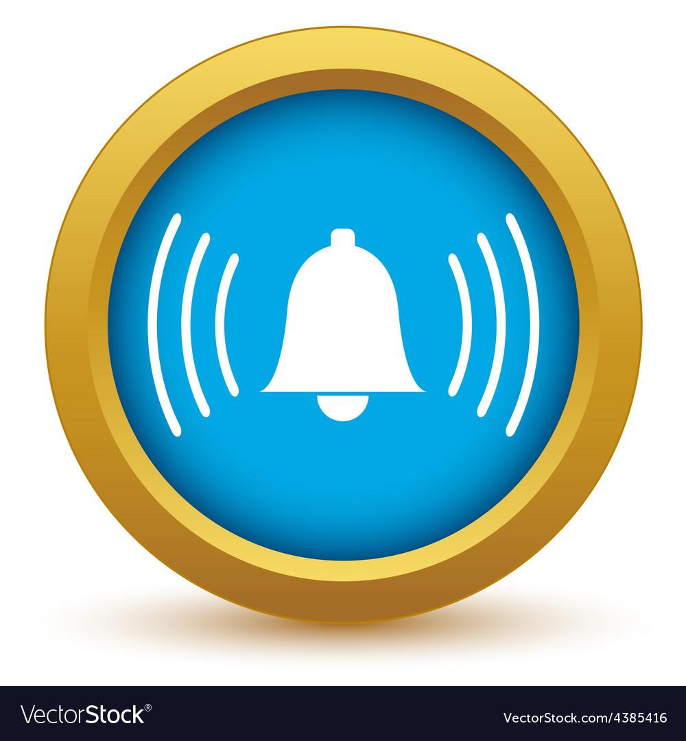 Gold alarm clock icon vector | Price: 1 Credit (USD $1)